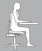 Die vordere Sitzhaltung