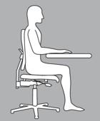 Die mittlere Sitzhaltung