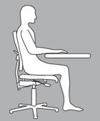 Die hintere Sitzhaltung